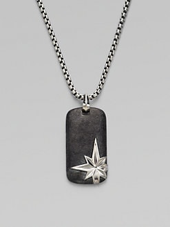 David Yurman - North Star Dog Tag Necklace