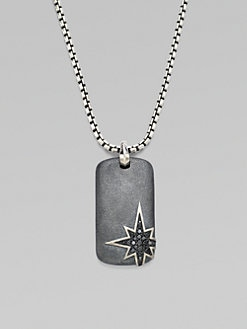 David Yurman - North Star Diamond Dog Tag Necklace