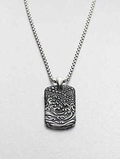 David Yurman - Sterling Silver Dogtag Necklace