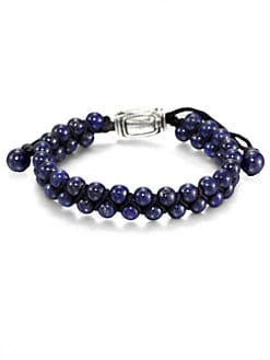 David Yurman - Lapis Beaded Bracelet
