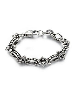 King Baby Studio - Sterling SIlver Skull Bracelet
