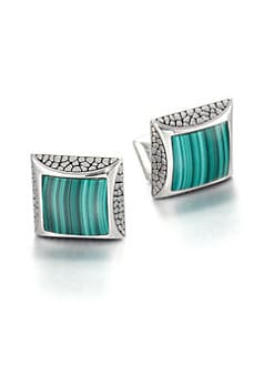 Stephen Webster - Sterling & Malachite Cuff Links