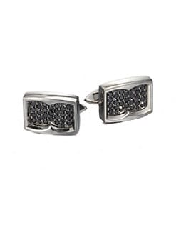 Stephen Webster - Black Sapphire Cuff Links