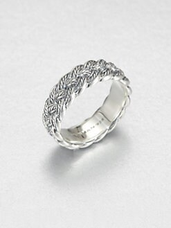 David Yurman - Sterling Silver Woven Band Ring