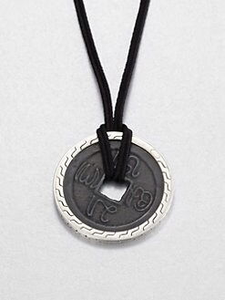 John Hardy - Sterling Silver Coin Pendant Necklace