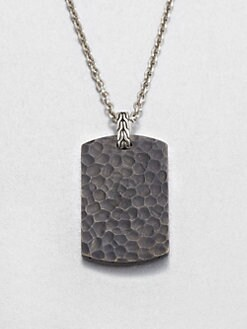 John Hardy - Sterling Silver, Black Bronze and Stainless Steel Necklace