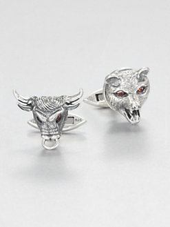 Stephen Webster - Bull & Bear Sterling Cuff Links