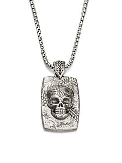 Stephen Webster - Sterling Silver Skull Dog Tag Necklace