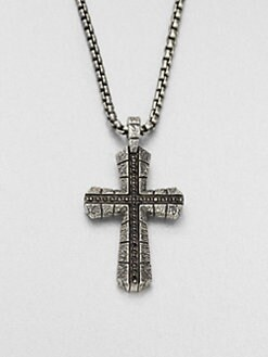 Stephen Webster - Sterling Silver Cross Pendant Necklace