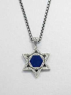 Stephen Webster - Sterling & Lapis Star Pendant Necklace