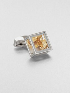 Tateossian - Pandora's Box Gold Leaf Cuff Link
