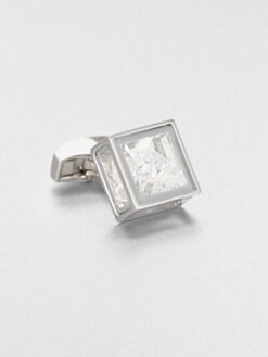 Tateossian - Pandora's Box Silver Leaf Cuff Link