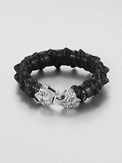 Scott Kay - Spike Leather Bracelet