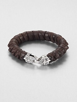Scott Kay - Leather and Sterling Silver Bracelet