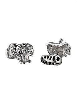 Robin Rotenier - Elephant Head & Peanut Cuff Links
