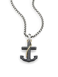 David Yurman - Sterling Silver Anchor Necklace