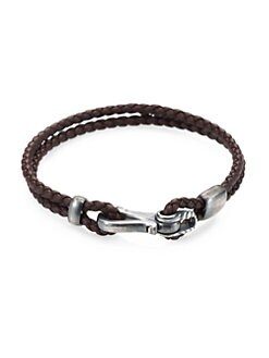 David Yurman - Braided Leather Bracelet