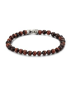 Scott Kay - Red Tiger's Eye Beaded Bracelet