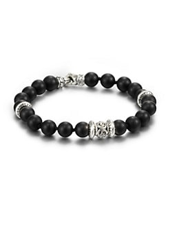Scott Kay - Matte Onyx Beaded Bracelet