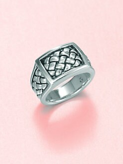 Scott Kay - Sterling Silver Matte Basketweave Ring