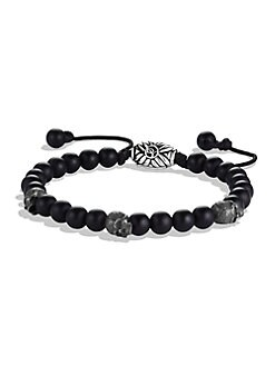 David Yurman - Single-Row Beaded Bracelet/Black