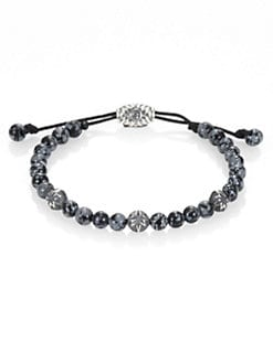 David Yurman - 6MM Single Row Woven Beaded Bracelet