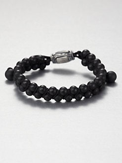 David Yurman - Black Onyx Woven Beaded Bracelet