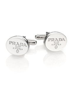 Prada - Oval Logo Cuff Links