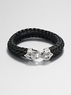 Scott Kay - Sterling Silver and Leather Bracelet