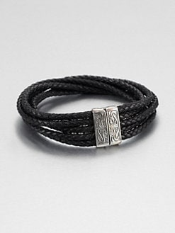 Scott Kay - Woven Leather Bracelet