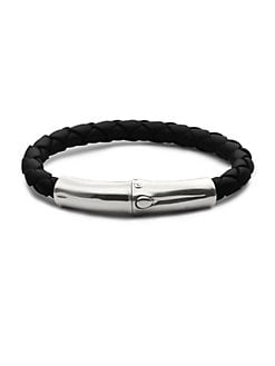 John Hardy - Leather & Silver Bracelet