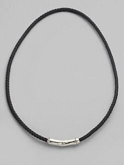 John Hardy - Leather & Silver Necklace