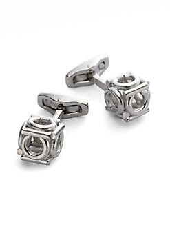 Salvatore Ferragamo - Gem Cubo Gancini Cuff Links