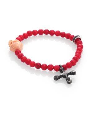 6MM Coral Bead Bracelet