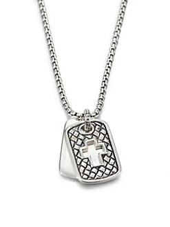 Scott Kay - Sterling Silver Cross Dog Tag