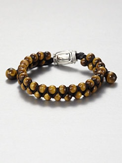 David Yurman - Tiger Eye Woven Beaded Bracelet