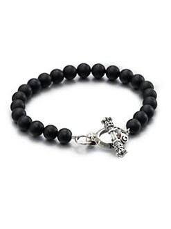 King Baby Studio - Black Onyx Beaded Bracelet