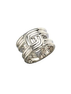 John Hardy - Silver Intertwine Ring
