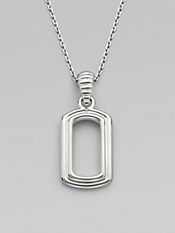 John Hardy - Silver Dog Tag Necklace