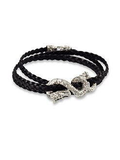 John Hardy - Triple-Wrap Braided Leather Bracelet