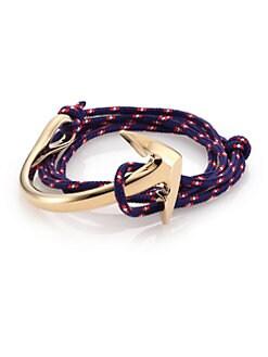 Miansai Half Anchor Triple Wrap Rope Bracelet Allmensak08