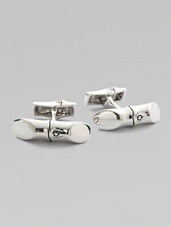 John Hardy - Bamboo Silver Bar Cuff Links