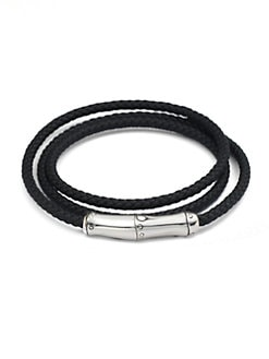 John Hardy - Triple-Wrap Leather Bracelet