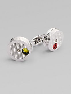 Tateossian - Mood Face Cuff LInks