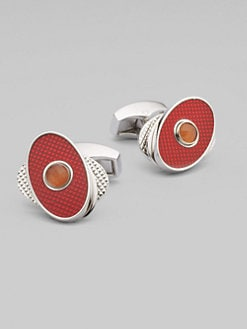 Tateossian - Spin Oval Cuff Links