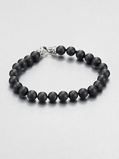 Scott Kay - Matte Hematite Beaded Bracelet
