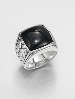 Scott Kay - Sterling Silver and Onyx Basketweave Ring