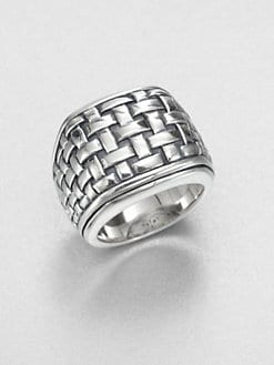 Scott Kay - Sterling Silver Basketweave Ring