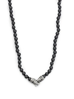 Scott Kay - Matte Hematite and Sterling Silver Beaded Necklace