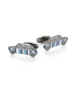 Paul Smith - Patterned Mini Car Cuff Links